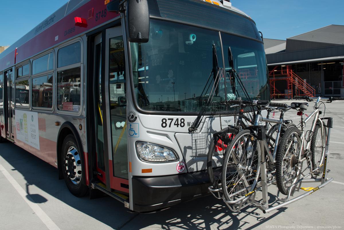 San Francisco Muni bus bike carrier