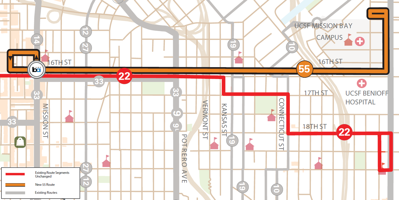 Proposed  Th Street Route SFMTA - Map san francisco bus routes