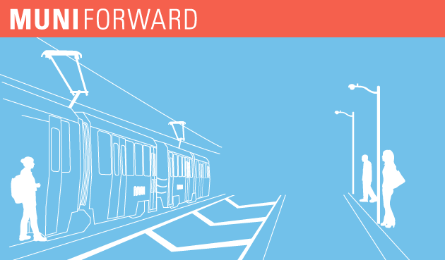 Muni Forward-branded illustration of a clear zone.