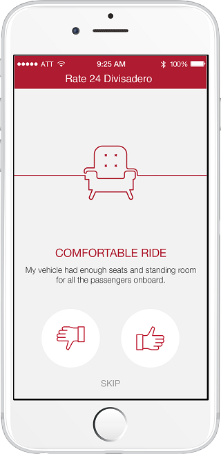 "An image of the MuniMobile app screen with the title, ""Rate 24 Divisadero."""