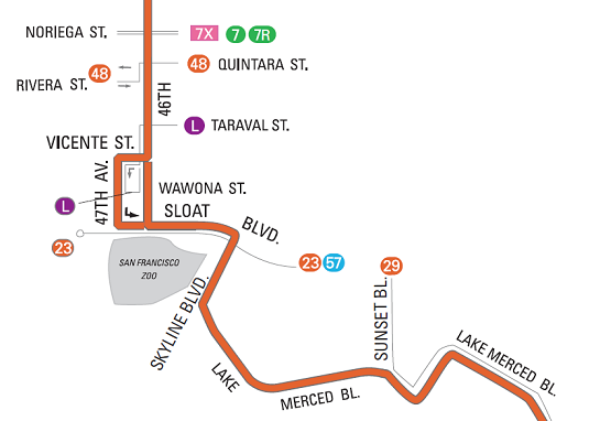 A map of the new 18 route as described earlier.