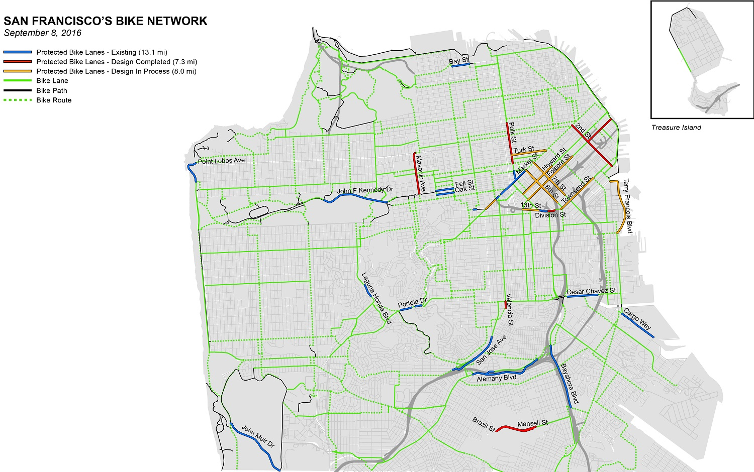 A New Generation Of Bikeways Is Coming To San Francisco SFMTA - Map san francisco bus routes