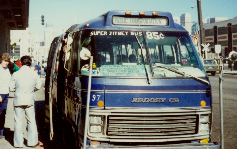 A San Francisco jitney in the 1970s
