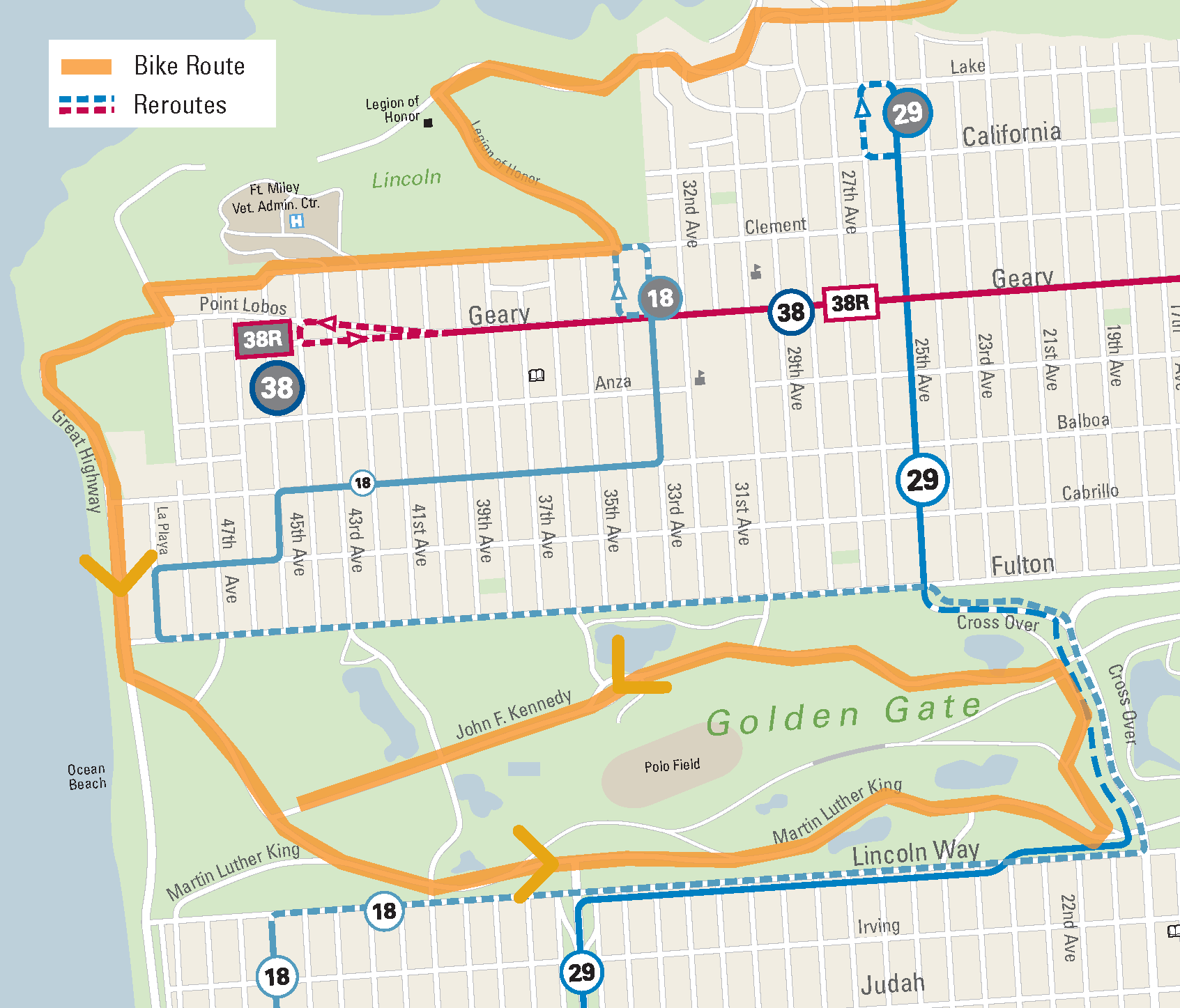Geary SFMTA - Map san francisco bus routes