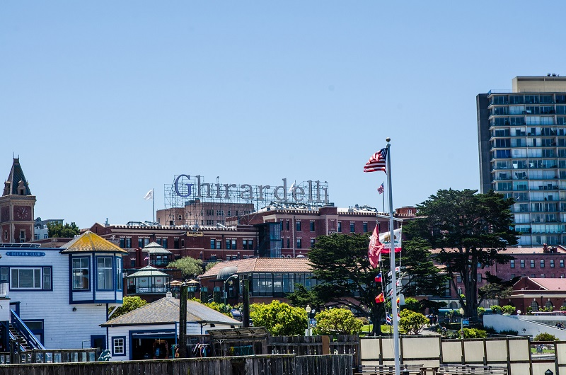 Ghirardelli Square on a sunny day