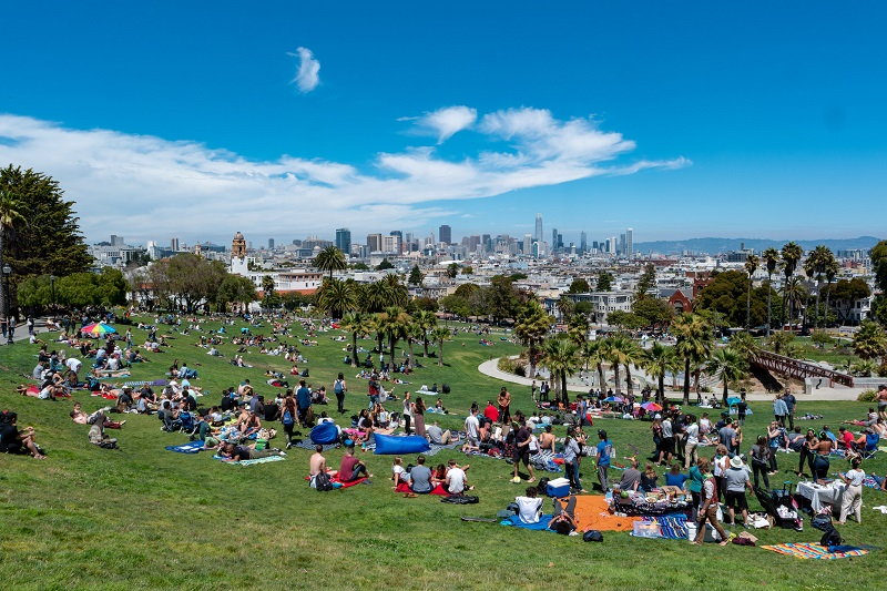 Dolores Park on a Sunny Day