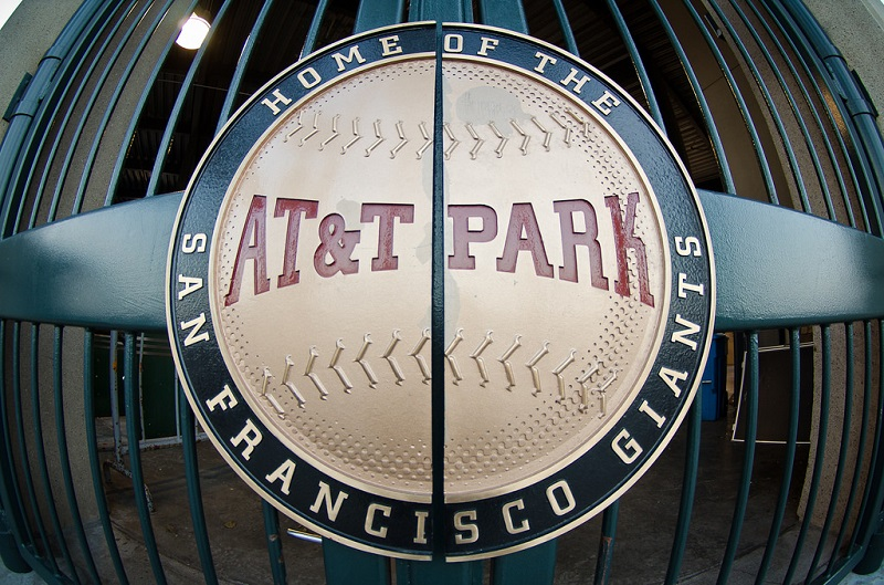 The ballpark entrance gate