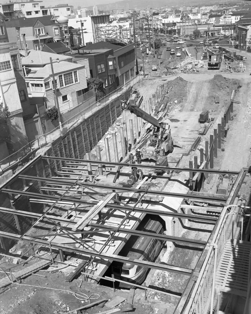 tunnel excavation in 1972