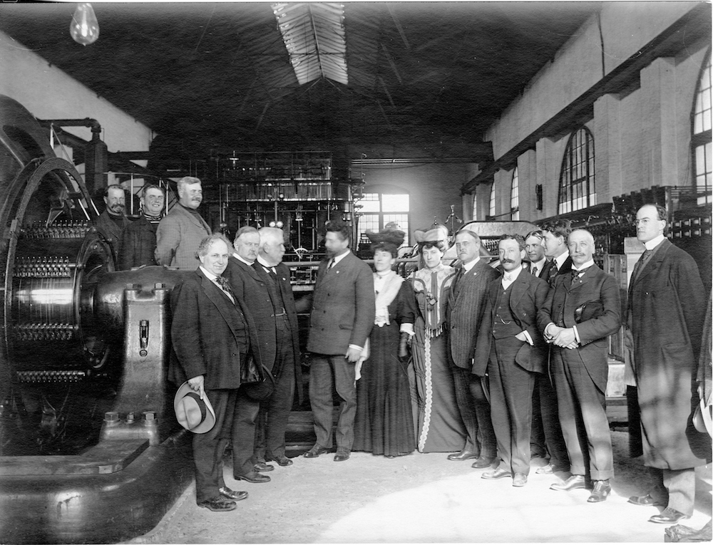 group of people inside bryant powerhouse