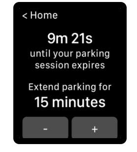 Parking session expires