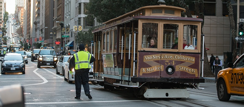 Fare enforcement at the Cable Car.