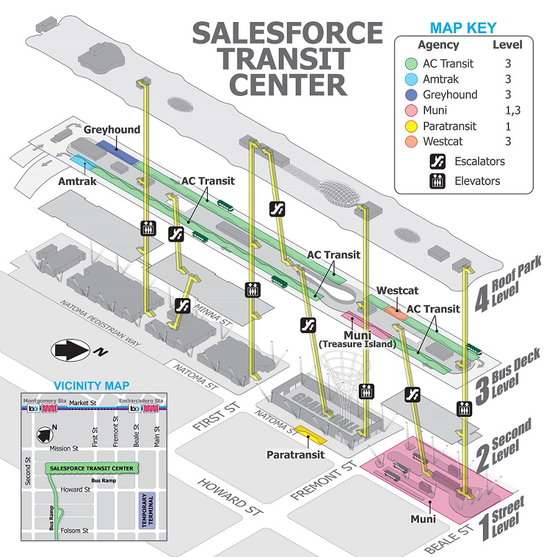 Salesforce Transit Center 3D Map