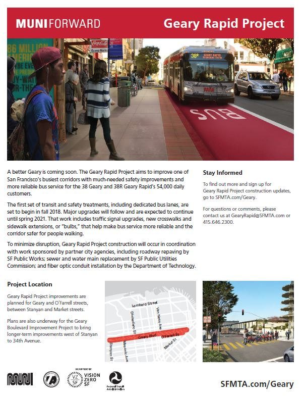 Geary Rapid Project Flyer