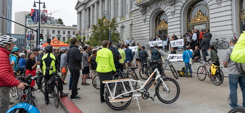 Bike to work day at City Hall