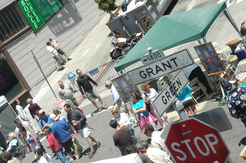 Grant/Green street sign/NB Festival