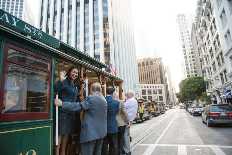 Mayor Breed on a Cable Car