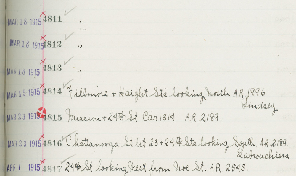 scan of book page with hand written entries