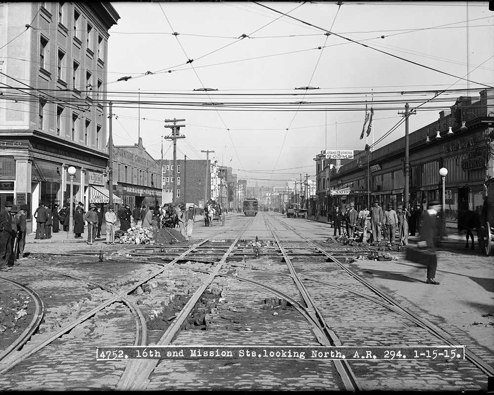 Mission & 16th looking north in 1915