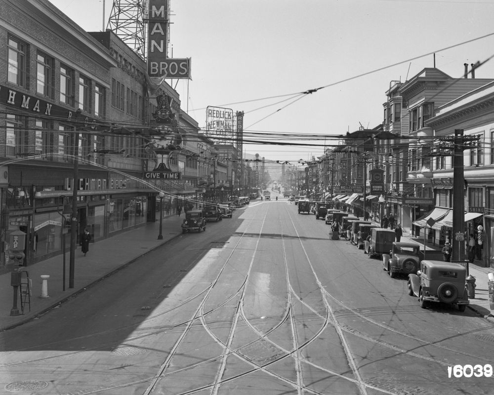 16th & Mission looking south in 1939