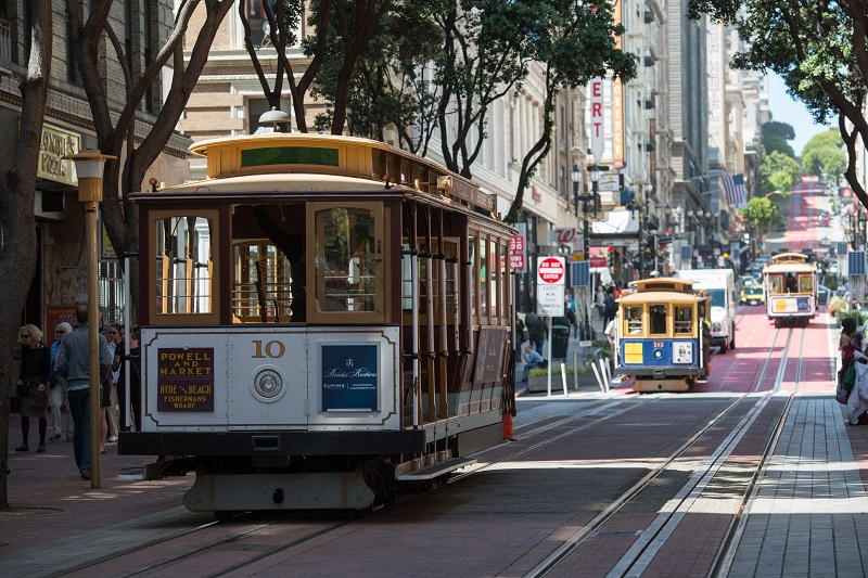 Cable Car on Powell Street.