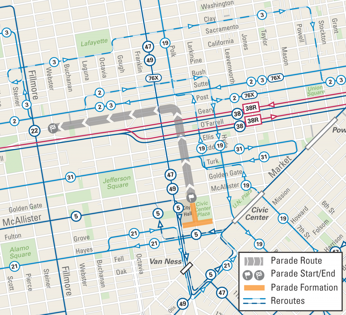 Cherry Blossom Parade: April 21, 2019 | SFMTA on septa route map, san francisco streetcar route map, pierce transit route map, mbta route map, samtrans route map, bart route map, caltrain route map, golden gate ferry route map, ac transit route map, j train route map, mta route map, golden gate transit route map, sound transit route map, bus route map, greyhound route map, amtrak route map, san diego trolley route map, metro route map, metrolink route map, vta route map,