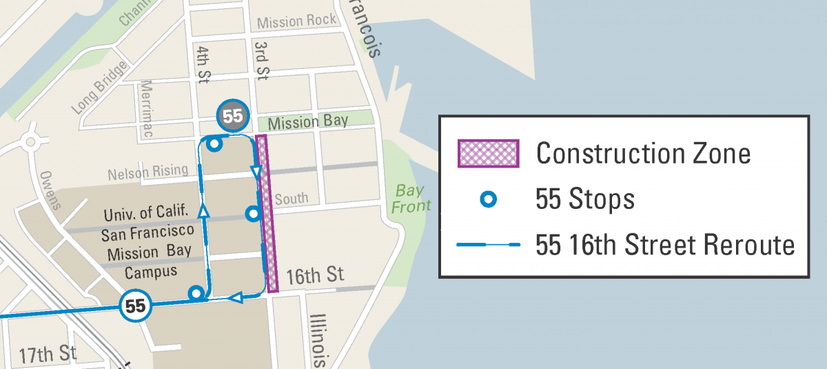 UCSF/Mission Bay Construction: June 22 & 23, 2019 | SFMTA