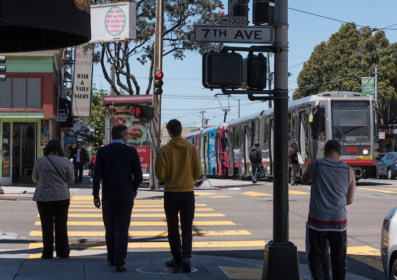 N Judah in the Inner Sunset.