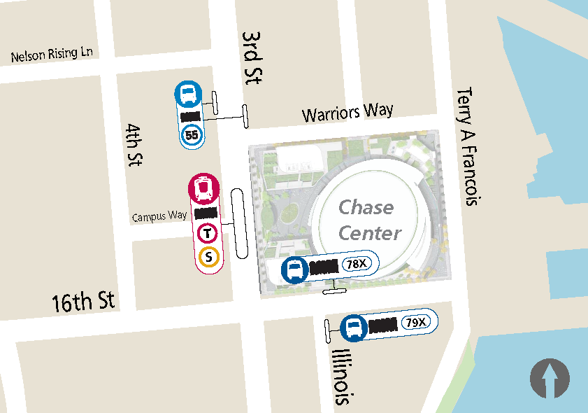 Chase Center Transit Boarding Locations