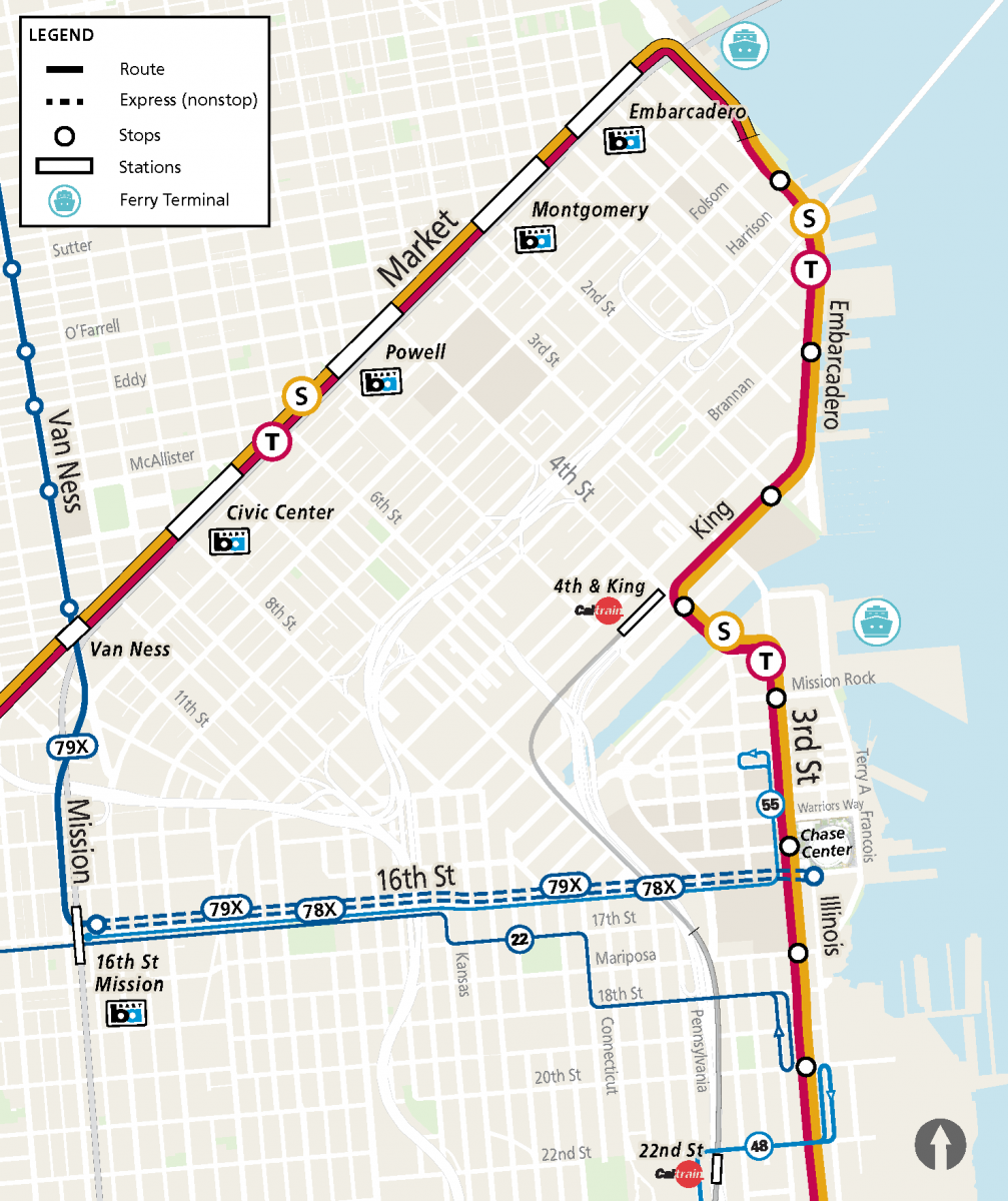 Chase Center Muni Transit Options