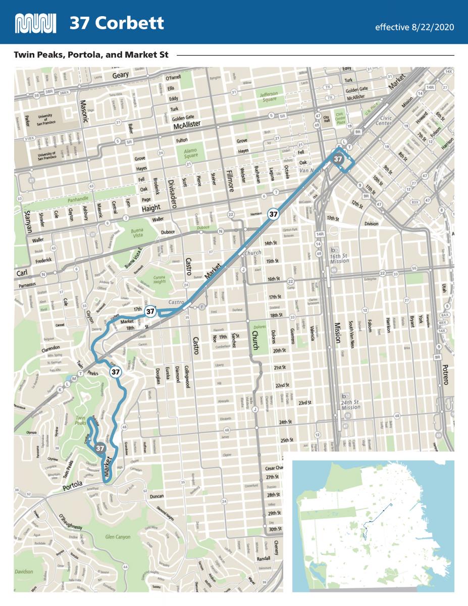 Map of the modified 37 Corbett route