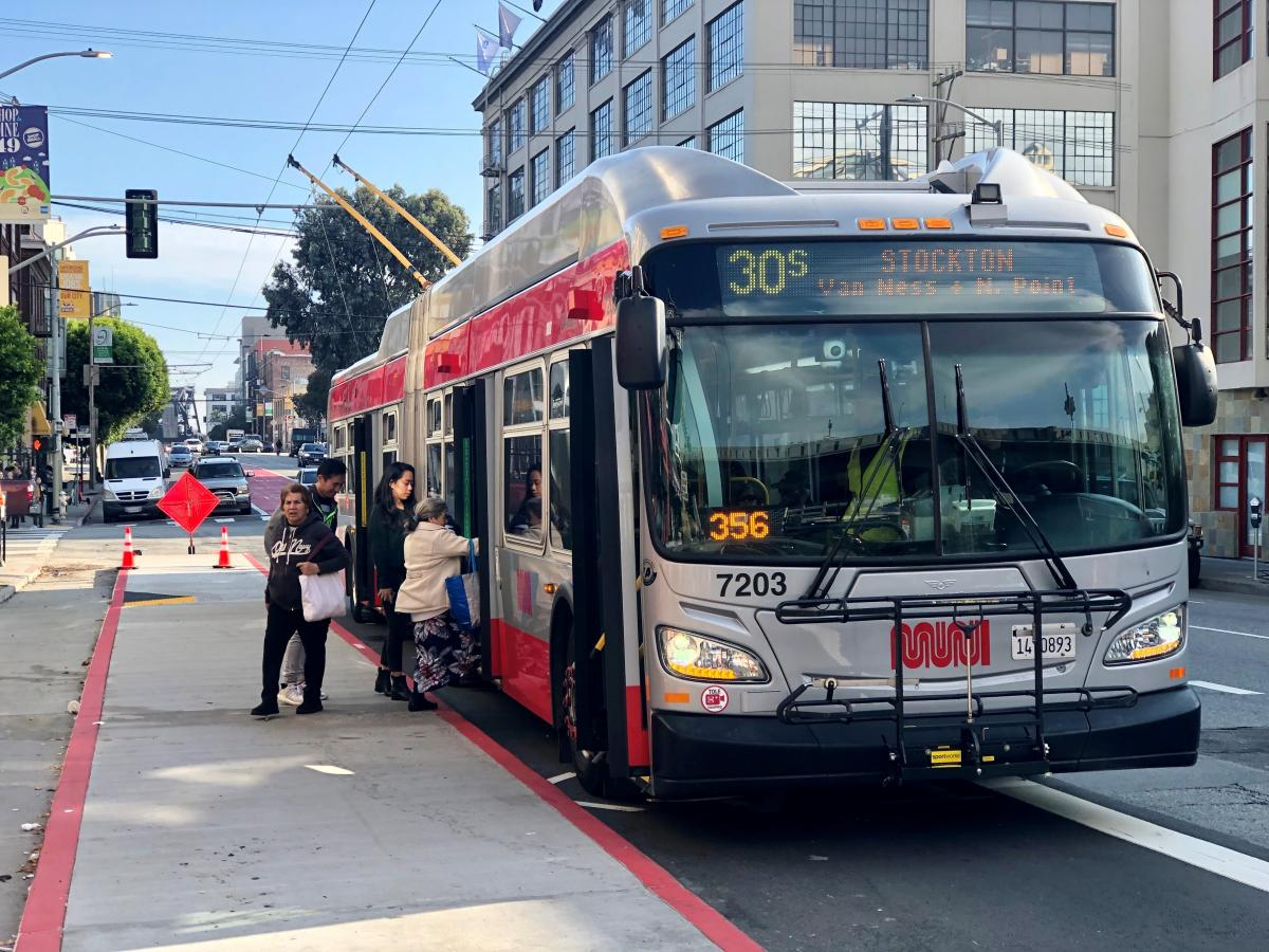 Improvements on 3rd Street on SoMa benefiting five Muni lines.