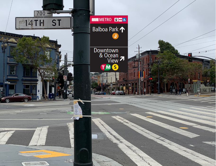 Image: Example of new wayfinding signage that to be installed at Church and Market streets