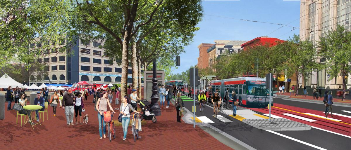 Better Market Street new Civic Center area graphic