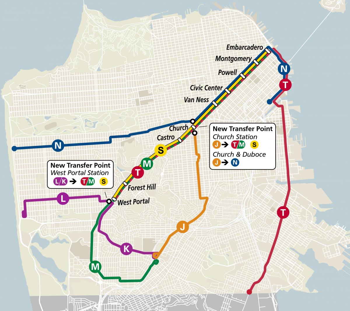 New rail map
