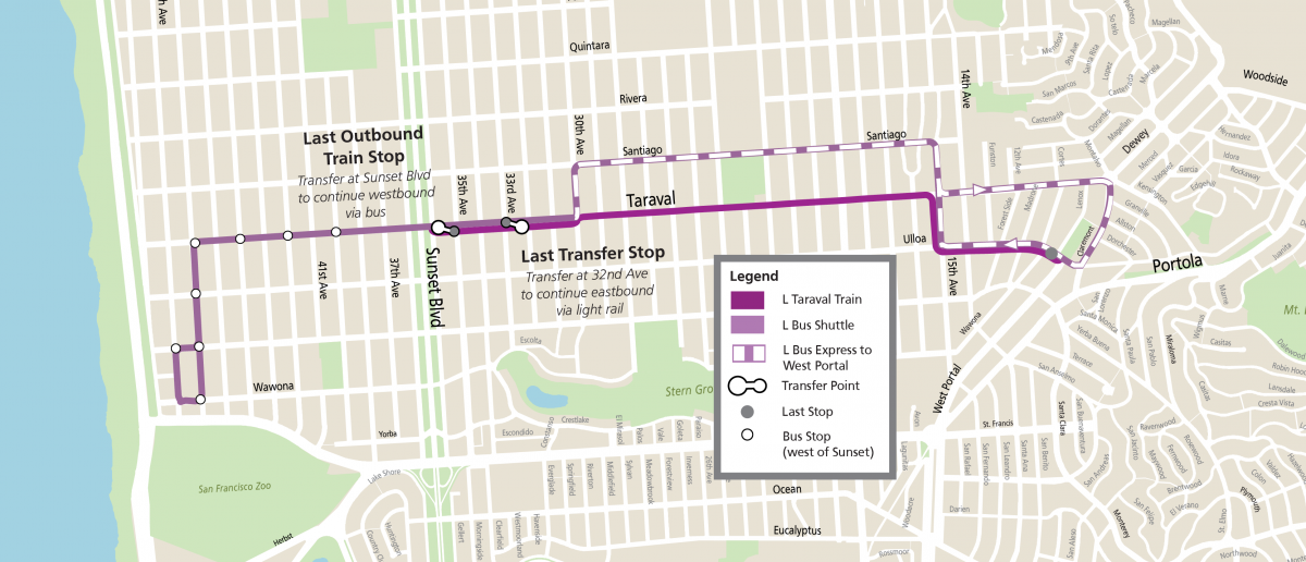 L Construction Bus route