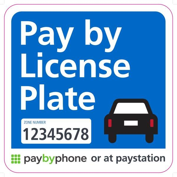 """A """"Pay by Phone"""" sign"""