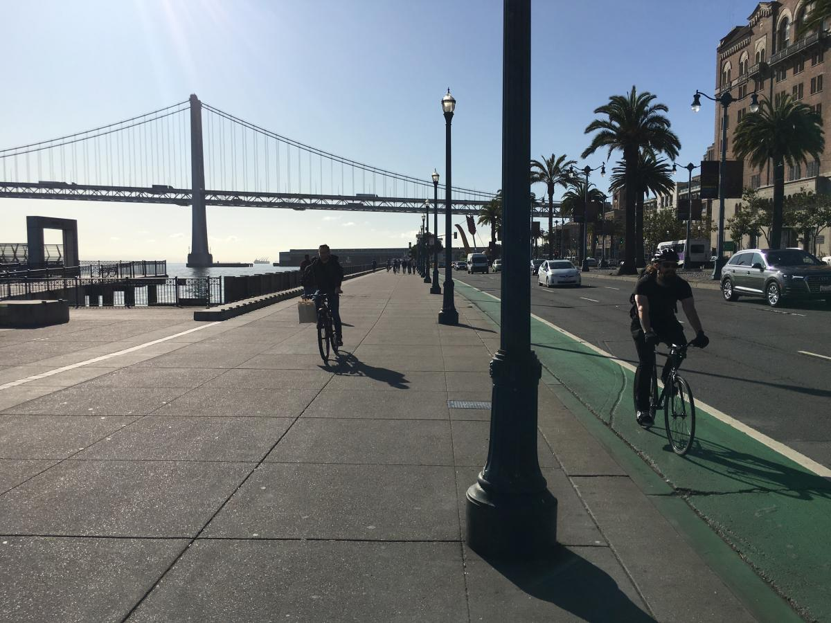 The Embarcadero and the Bay Bridge