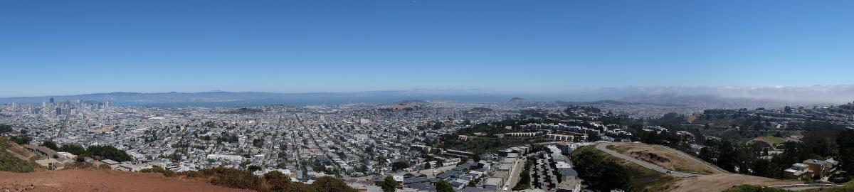 Twin Peaks view of San Francisco