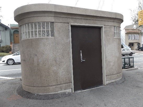 Geneva Avenue and Munich Street Operator Restroom built in 1990