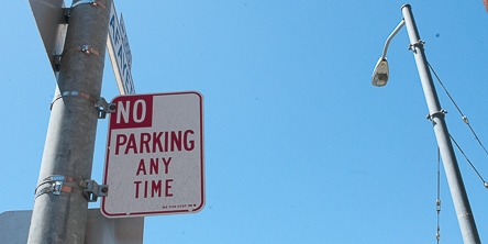 No Parking Sign on Street Corner | May 22, 2013