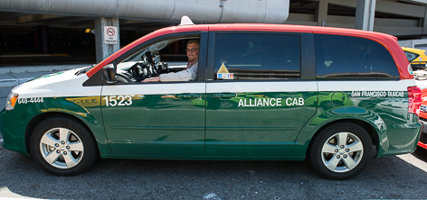 Van with Alliance Taxi Cab Color Scheme