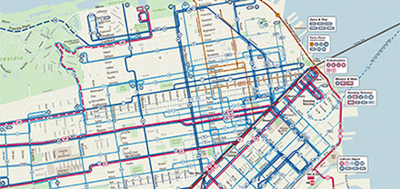 SFMTA Street and Transit Map of San Francisco