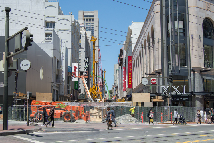 Construction on Stockton Street