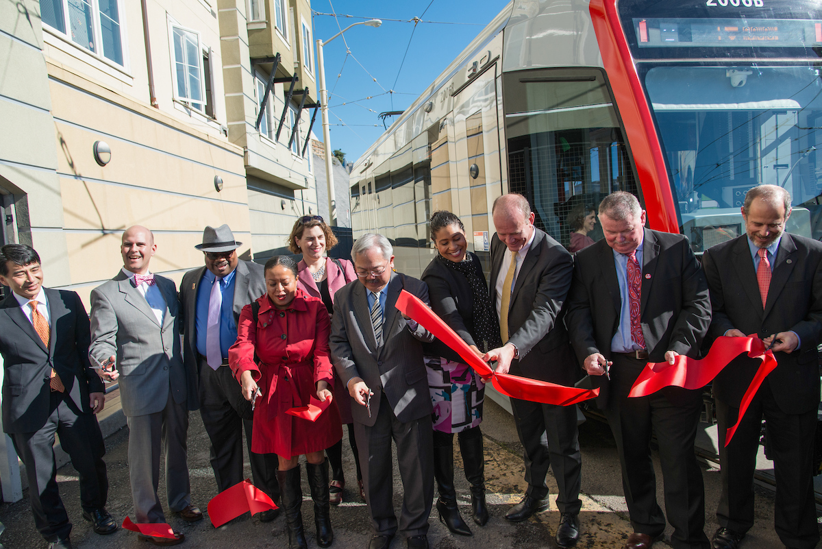 Community Leaders Cut the Ribbon to Put LRV4 into Service