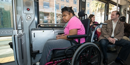 Passenger in a Wheelchair Accessible Area | March 11, 2013