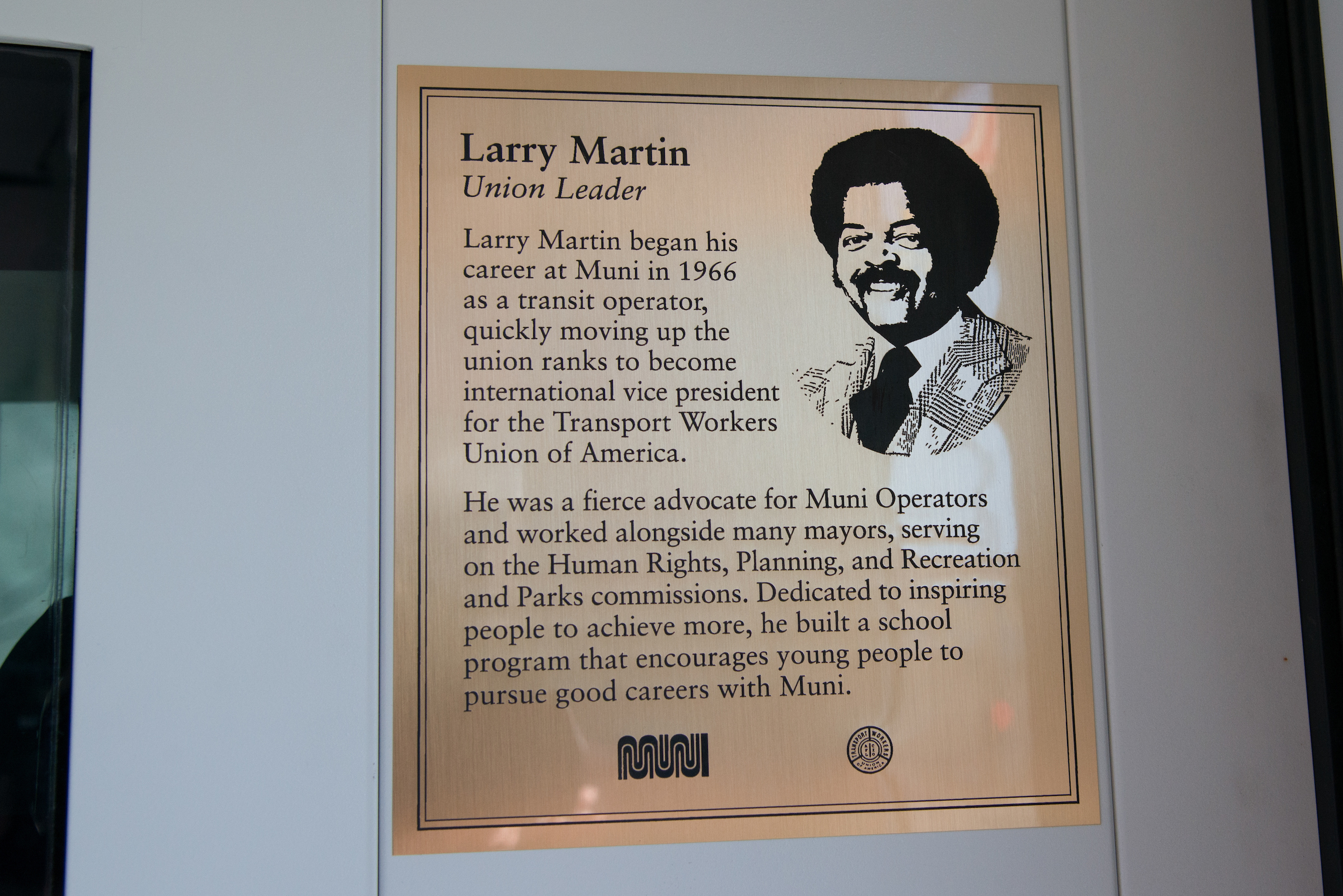 Larry Martin Plaque