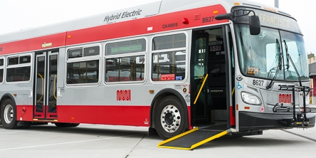 New Flyer Hybrid Bus with Ramp Down