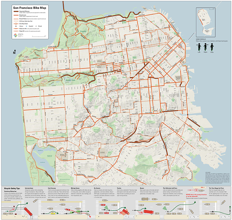 San Francisco Bike Network Map SFMTA - San francisco bike map