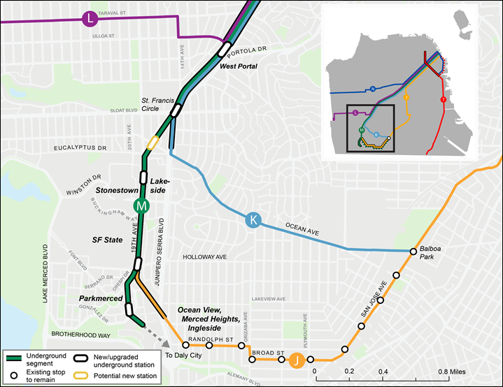 Muni Subway Map.Subway To Sfsu Our Plan To Take The M Line Down Under Sfmta