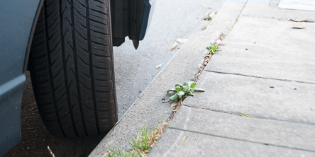 Car Parked on Hill with Wheels Curbed | May 20, 2013
